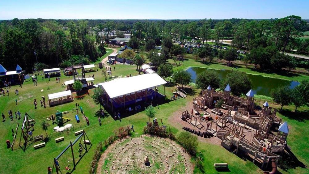 Scott's Maze Adventures play area from overhead