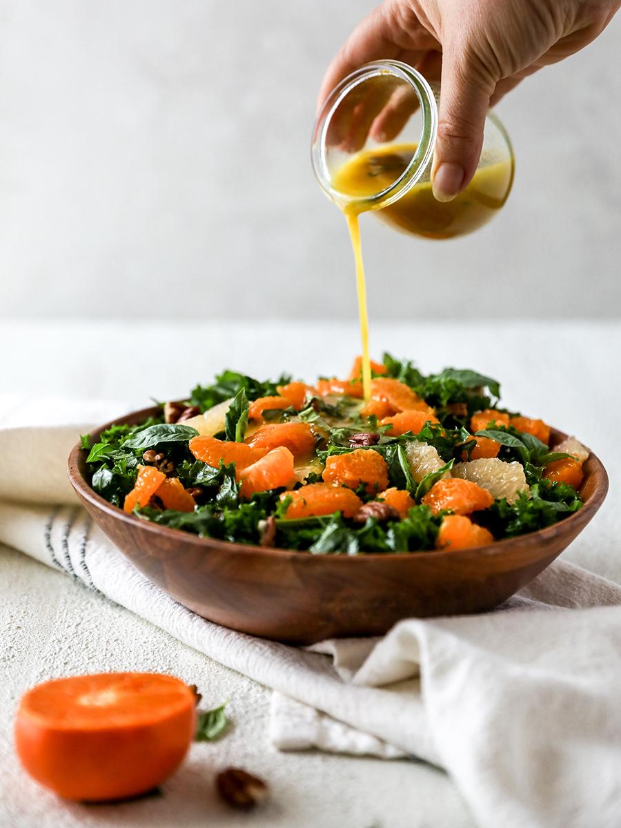kale citrus salad; citrus recipes