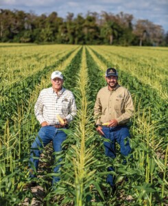 Paul Orsenigo, left, and his son, Derek, grow vegetables on their family farm in Belle Glade.